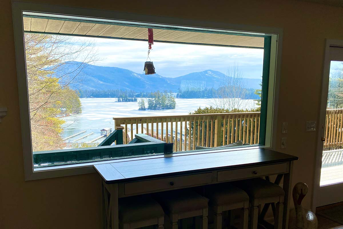 Lake George from Sweetbriar Villa's living room