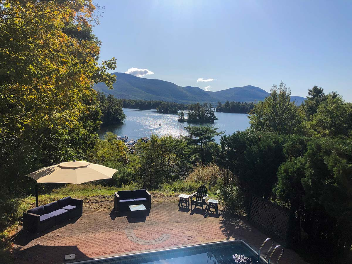 View of Lake George from Sweetbriar Villa