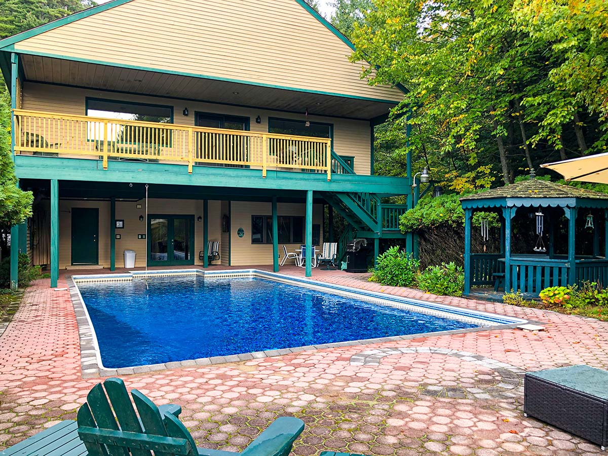 Pool and deck area