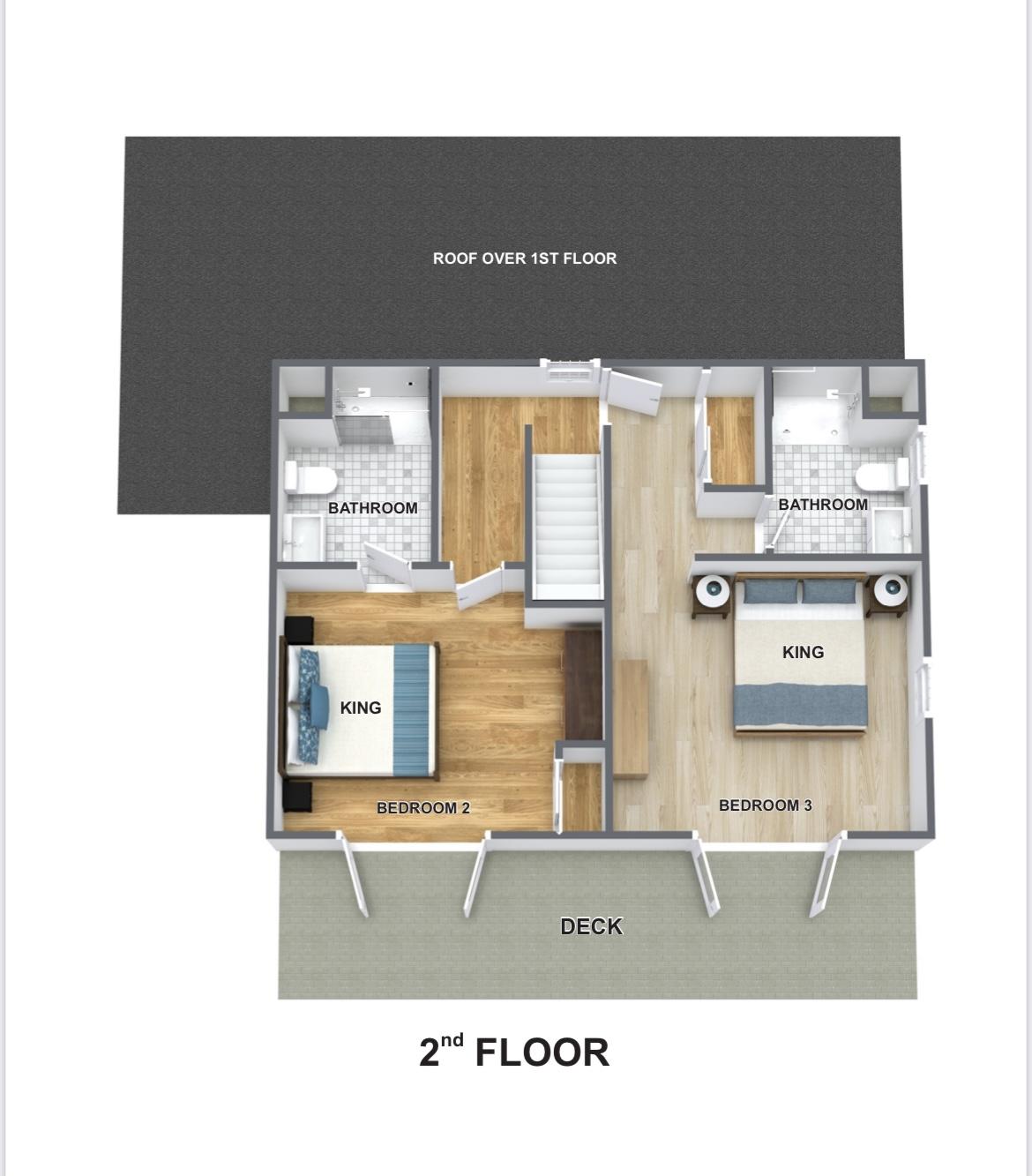 2nd floor plan furnished